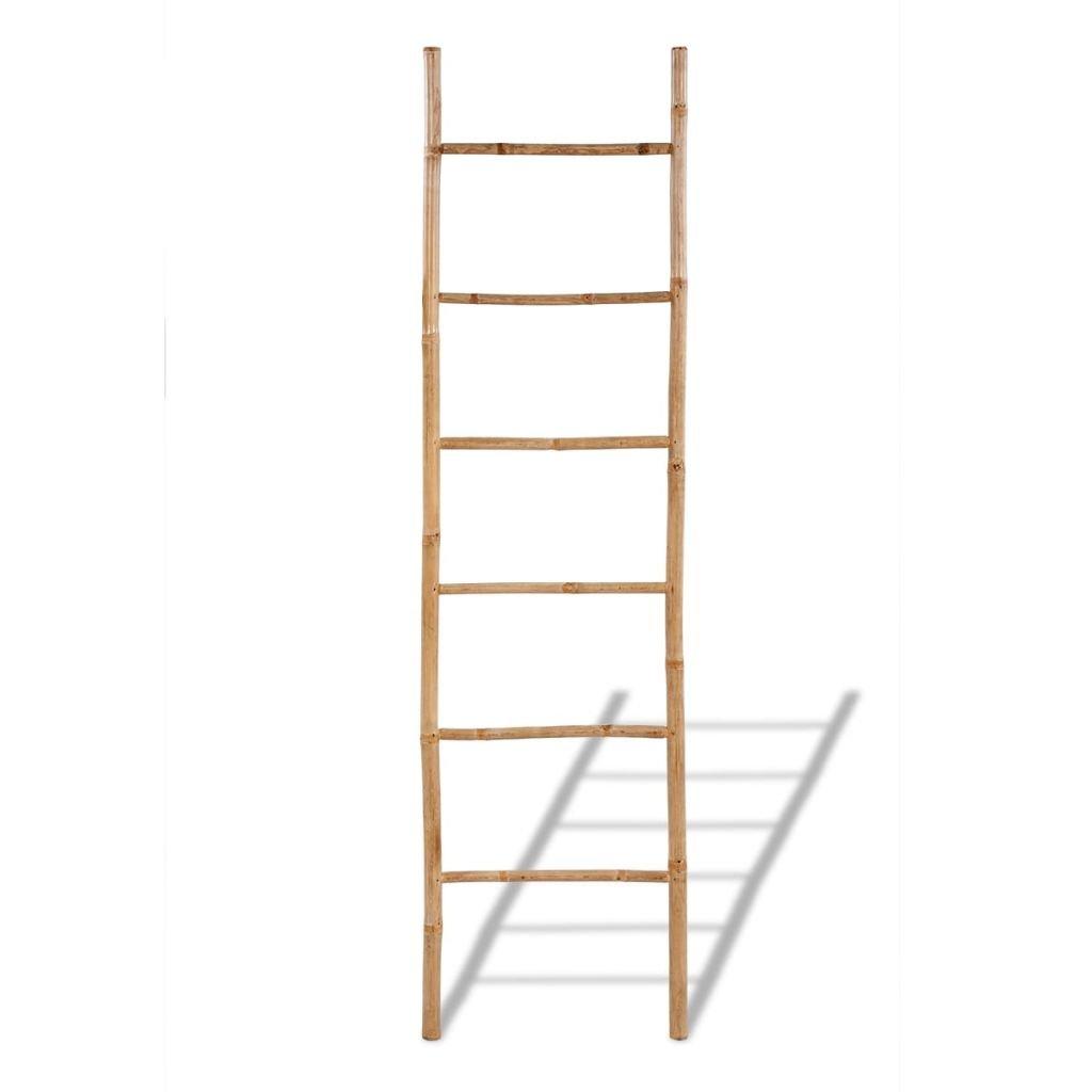 yorten Escalera para Toallas con 6 Pelda/ños de Bamb/ú Escalera para Toallas para Ba/ño como Decoraci/ón 50 x 190 cm