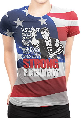 Bro Science Women's Strong F Kennedy (Wild Tee) T-Shirt XX-Large - Shop Dom Kennedy