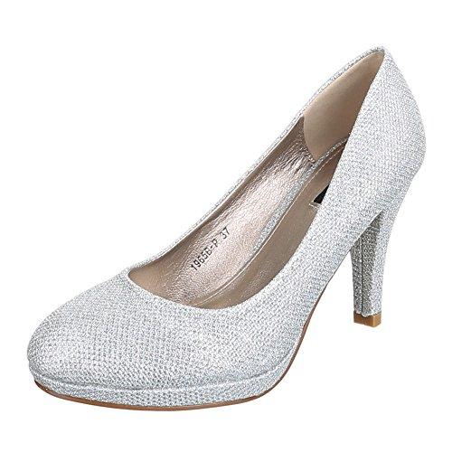 Chaussures, 1965B-p, escarpins femme Silber