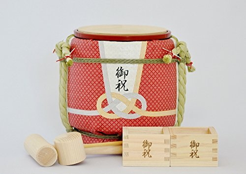 Mini Komodaru Sake-Barrel Set ''Gift from the heart-Okuru kokoro''