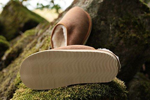 Piel de cordero Zapatillas - ANTON Hombre piel de cordero marrón Marrón
