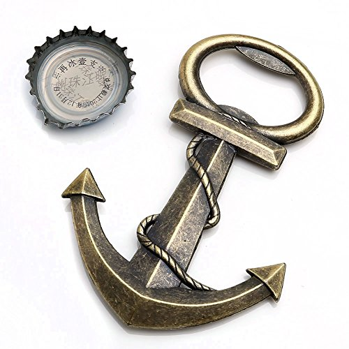 Yoption Anchor Nautical Themed Bottle Opener Wine and Beer Accessories Metal Stainless Steel Bottle Opener (Anchor)