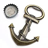 Retro Kitchen Appliance Packages Yoption Anchor Nautical Themed Bottle Opener Wine and Beer Accessories Metal Stainless Steel Bottle Opener (Anchor)