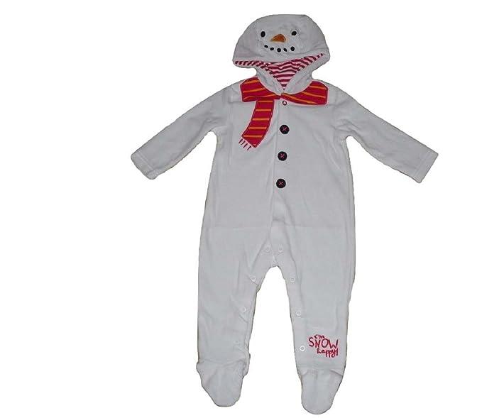 Bébé Garçons Filles Combinaison Grenouillère grenouillère TOUS Inn Un Pyjama Bonhomme des neiges Noël - 0
