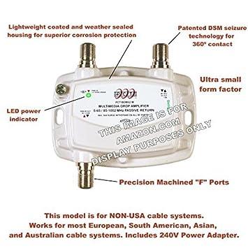PCT 1-PORT BI-DIRECTIONAL CABLE TV HDTV AMPLIFIER