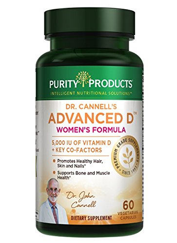 Dr. Cannell's Advanced Vitamin D Women's Formula | Purity Products | Fortified with Lutein & Biotin for Healthy Skin & Hair* | 60 Vegetarian Capsules