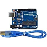 kuman UNO R3 Board ATmega328P with USB Cable for Arduino - Compatible With Arduino UNO R3 Mega 2560 Nano Robot for Arduino IDE AVR MCU Learner K53