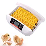 Liquor Automatic Egg Incubator Auto Hatching Machine 32 Eggs with LED Lighting for Quail Chickens Ducks Pigeons Eggs 110V