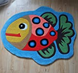 Ustide Cartoon Handmade Rug for Kids Thicken Unique Bedroom Rug Cool Area Rug for Boys Contemporary Carpet Durable Floor Runer Rug 3x4