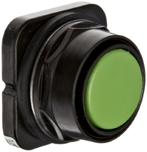 Siemens 52PX8A3 Pushbutton Operator, Black Max Corrosion Resistant, Flush Cap, Green
