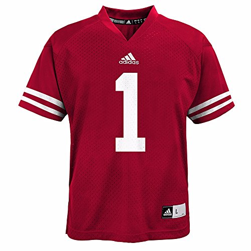 Wisconsin Badgers adidas Toddler Boys #1 Football Jersey - Red (4T)