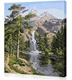 DoMyArt Diy Oil Painting, Paint By Number Kits - Waterfall 16X20 Inch
