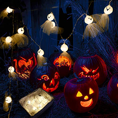 String Lights 20 LED Sunny Doll Styling Halloween Ghost Festival Decoration Hanging Lights Flashing Lights Battery Powered