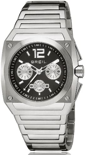 Breil TW0689 - Reloj analógico de Cuarzo para Hombre con Correa de Acero Inoxidable, Color Plateado