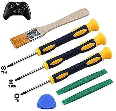 T8H T6 T10H - Juego de Destornilladores para Mando Xbox One Xbox 360 y PS3 PS4, Herramienta de Seguridad y Cepillo de Limpieza: Amazon.es: Electrónica