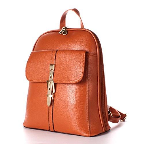 Ezeso elaborazione le Orange spalla del di per di delle del viaggio del zaino sacchetto Sacchetto di dell'unità sacchetto elaborazione donne dell'unità di di cuoio ragazze wSRqrUw