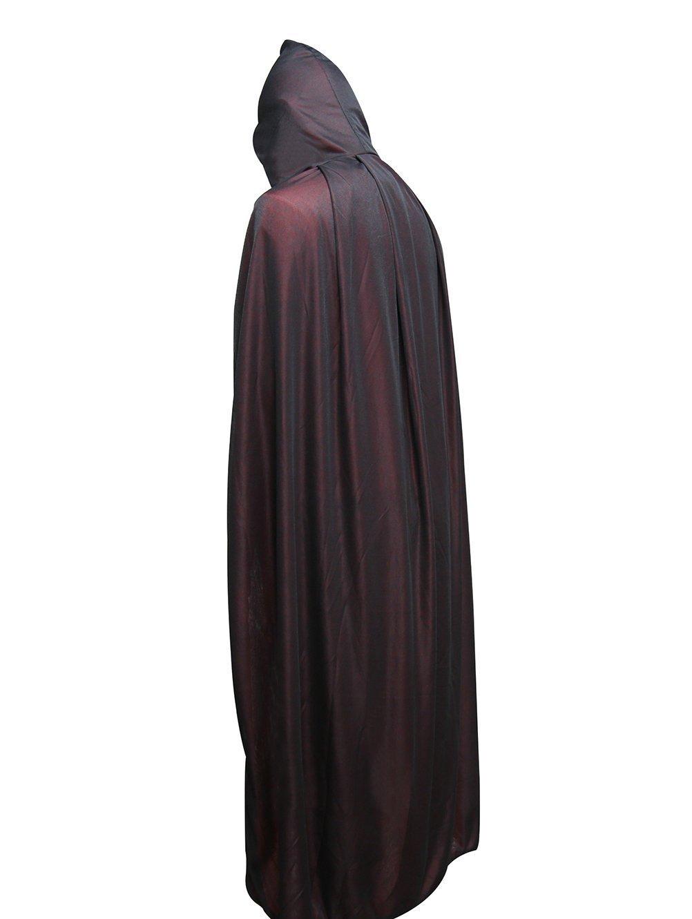 QANGEL Halloween Costume Cosplay Vampire Cape Hooded Cloak For Easter Christmas(47'')