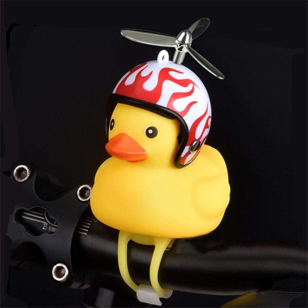 Biggystar Bicycle Bell Cute Duck Helmet Duck Broken Duck Safety Handlebar Bell Horn Light Child Adult