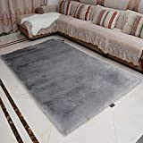 Imitated Fur Soft Touch Rug Soft,Machine Washable 60 * 120CM Thickened Fluffy Rug Non-Slip Room Carpet Nursery Rug Dining Bedroom Floor Mat