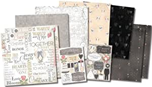 Karen Foster The Happy Couple Design Themed Paper and Stickers Scrapbook Kit