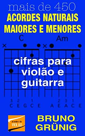 ACORDES NATURAIS MAIORES E MENORES: cifras para violão e guitarra ...