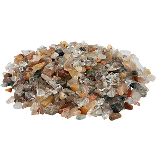 rockcloud 1 lb Mixed Stone Small Tumbled Chips Crushed Stone Healing Reiki Crystal Jewelry Making Home Decoration