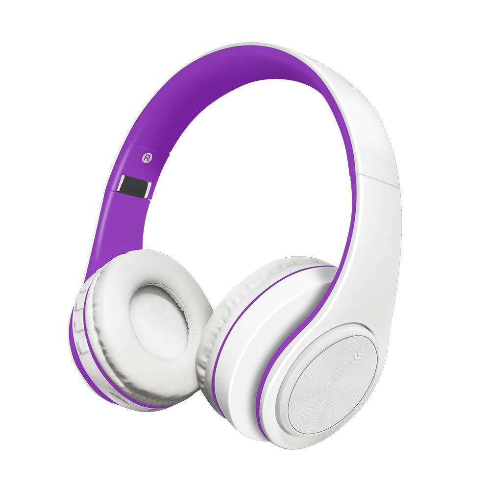 Alitoo Auriculares Inalámbricos Bluetooth Estéreo Plegable Auriculares de Diadema con micrófono Cancelación de Ruido Sobre Oreja Cascos para Smartphone,PC ...