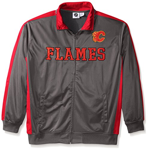 NHL Calgary Flames Men's Tricot Track Jacket,
