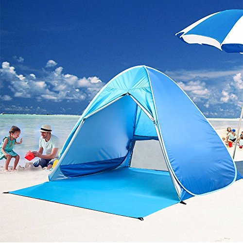 Kingstar Waterproof 2-3 Person Pop Up Beach Tent Portable Folding Automatic Instant Sun Shelters Family Backpacking ... : folding pop up beach tent - memphite.com