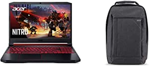 """Acer Nitro 5 Gaming Laptop, 9th Gen Intel Core i7-9750H, NVIDIA GeForce RTX 2060, 15.6"""" Full HD IPS 144Hz Display, 16GB with Acer Travel Laptop Backpack"""