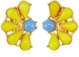 Ben-Amun Jewelry Garden Escape Daisy Clip-On Earrings