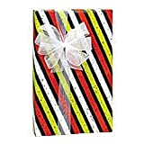 Chalkboard Stripes 24in.x417ft. Gift Wrap Counter Roll - 1 Roll