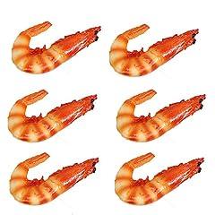 Name:fake shrimps Materia:plastic Package: 6pcs simulation shrimp