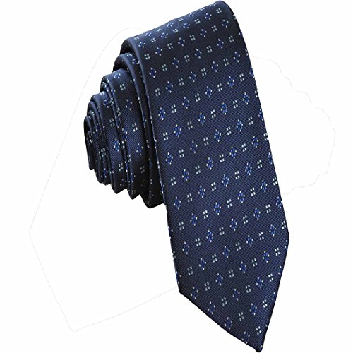 Blue Pattern Tie - MENDENG Classic Diamond Pattern Men's Tie Plaid Business Necktie Party Ties