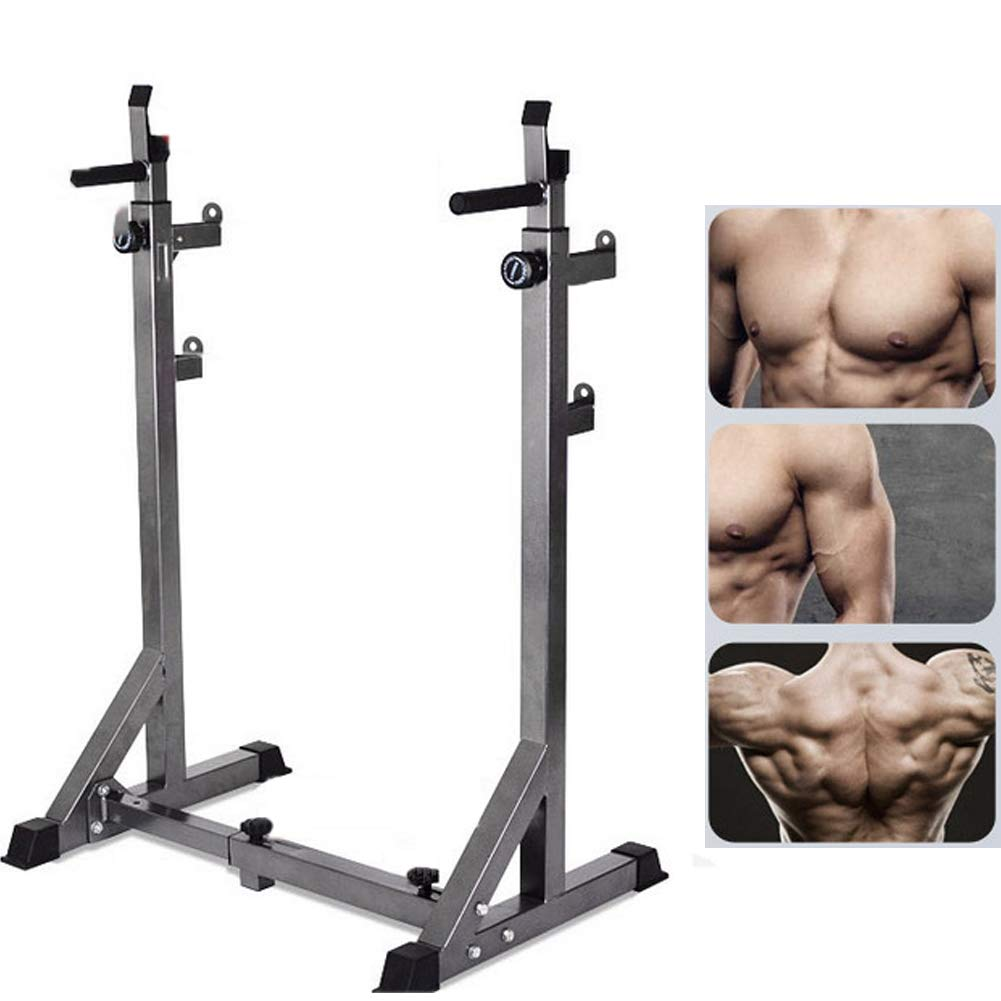 EFGS Squat Rack Weight Lifting Stand, Multifunction Household Barbell Stand, Strength Training, Home Gym by EFGS