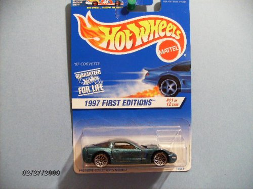 Hot Wheels 1997 First Editions Series (#11 of 12) '97 Corvette Collector Car #515 - Laced Wheel
