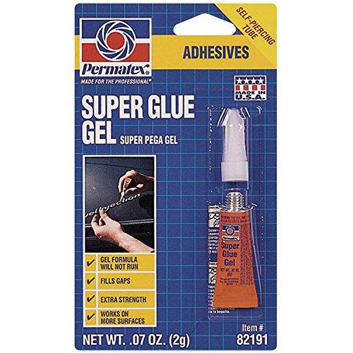 Permatex 82191 Super Glue Gel, 2 g (Gel Vinyl Glue)