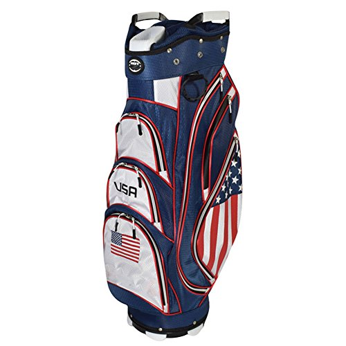 Hot-Z Golf 2018 Flag Cart Bag Hot Usa Flag