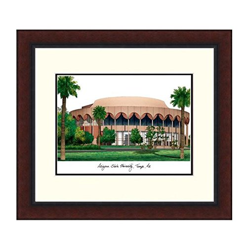 Framed Arizona Lithograph State University (K&A Company Campus Images Legacy Alumnus Lithograph Picture Frame - Arizona State University)