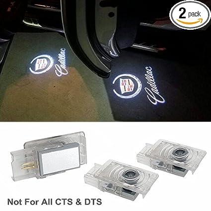 door lights cadillac compatible logo lights car door lighting entry ghost  shadow projector laser bright leds