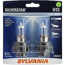 SYLVANIA H13 SilverStar High Performance Halogen Headlight Bulb, (Pack of 2)