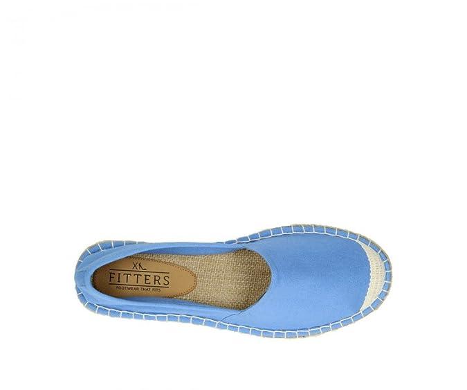Fitters Espadrilles Sun Blue Stripes / Espandrillos, Schuhgröße:EUR 44
