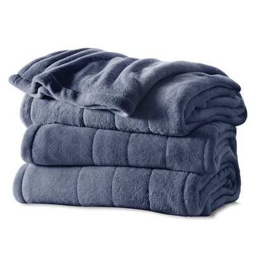 Sunbeam Microplush Heated Blanket with ComfortTech Controller, King, Slate