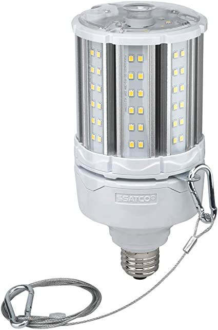 Un-Lensed 8.50 inches Satco S8930 Medium Light Bulb in White Finish