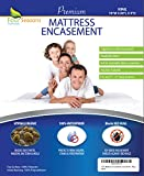 Four Seasons Essentials King Mattress Protector (9'' Low Profile) Bedbug Waterproof Zippered Encasement Hypoallergenic Premium Quality Cover Protects Against Dust Mites Allergens