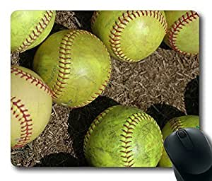 Rectangle mouse pad , Magic Softball