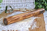 Rolling pin design olive wood 30 cm / 11.8 inch by DOM