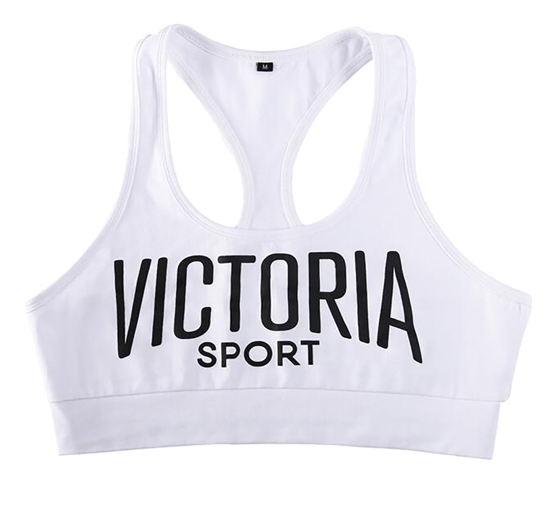 Esast Women's Sports Sleeveless Letters Printed Crop Top