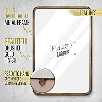 "HBCY Creations Wall Mounted Rectangle 20"" X 30"" Mirror"