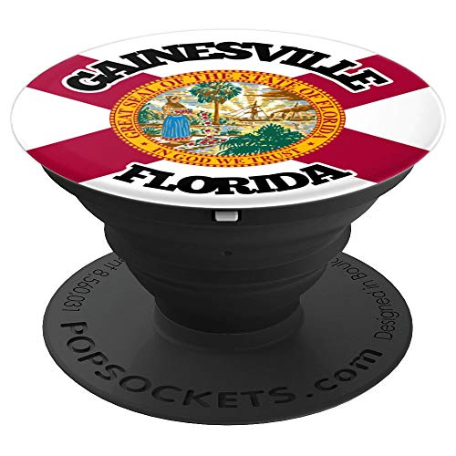 Gainesville Florida FL Group City Flag Patriotic - PopSockets Grip and Stand for Phones and ()